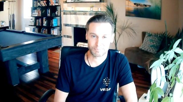 Jon Carder, CEO of Vessel  + Taryn Southern