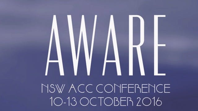 NSW ACC 2016 conference - Wednesday 6PM