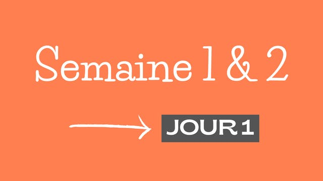 JOUR 1 - FORTE & CONFIANTE 2.0