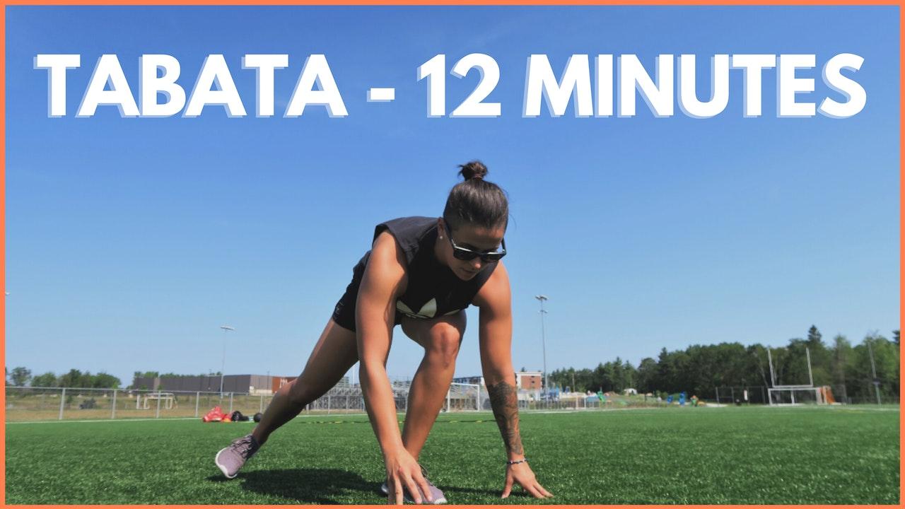 ENTRAÎNEMENTS TABATA - 12 MINUTES