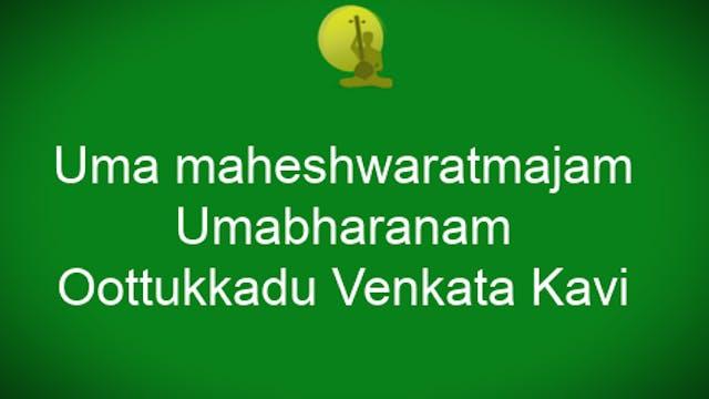 Uma maheshwaratmajam – Umabharanam – ...