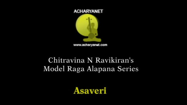 Asaveri Model Raga Alapana