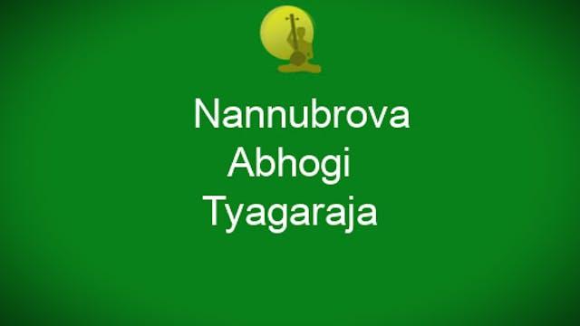 Nannubrova-Abhogi-Tyagaraja