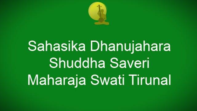 Sahasikadanuja-Shuddhasaveri- Swathi Tirunal