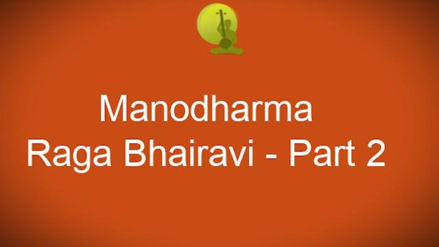 Alapana Raga Bhairavi - Part 2 - Zoom Session
