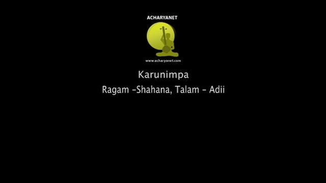 Karunimpa - Sahana Varnam