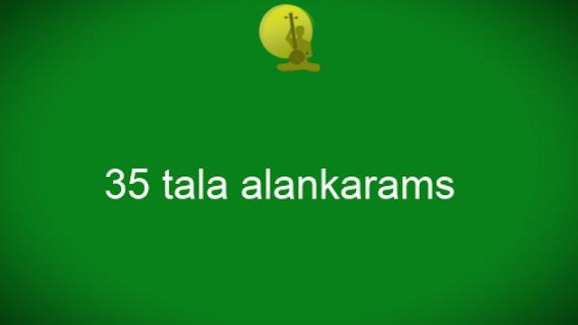 35 Tala Alankaram