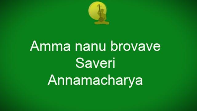 Amma nannu brovave - Saveri - Annamac...