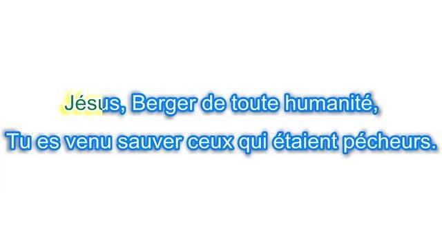 Jésus Berger de toute humanité