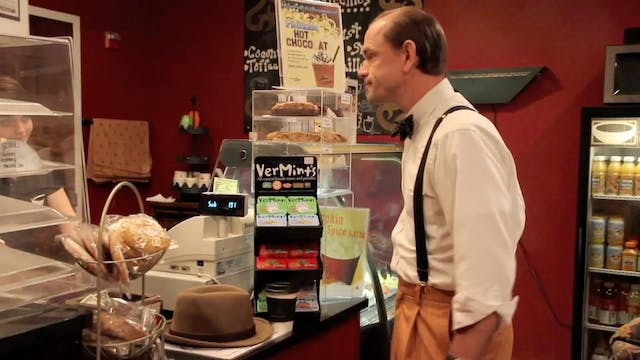 Director 'Forrest Woods' Buys Coffee