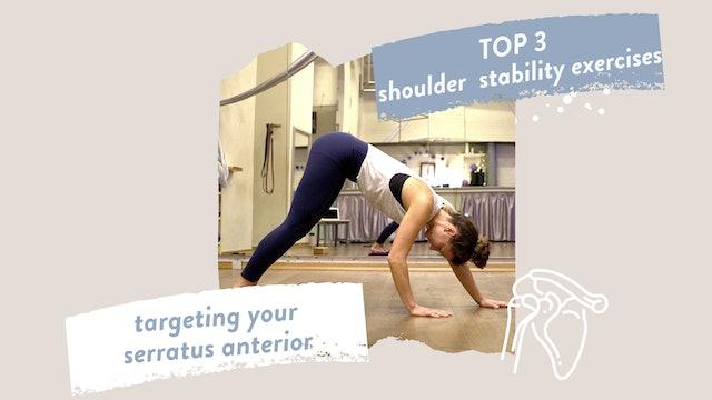 Shoulder Stability Exercises targeting the M. Serratus Anterior