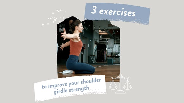 Improve Your Shoulder Girdle Strength & Posture with these 3 Exercises (warm up)