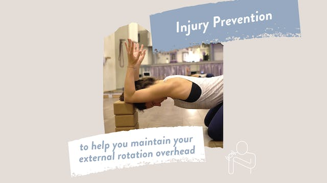 Injury Prevention - *External Rotation* & overhead progressions for aerialists