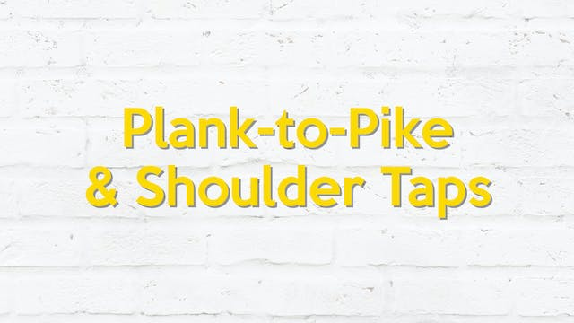 PIKE TO PLANK & SHOULDER TAPS