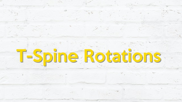 T-SPINE ROTATIONS