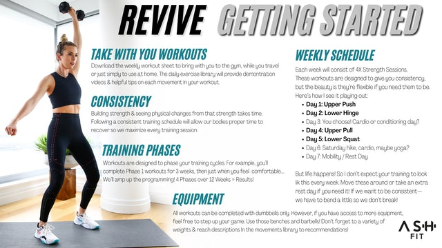 REVIVE   Getting Started