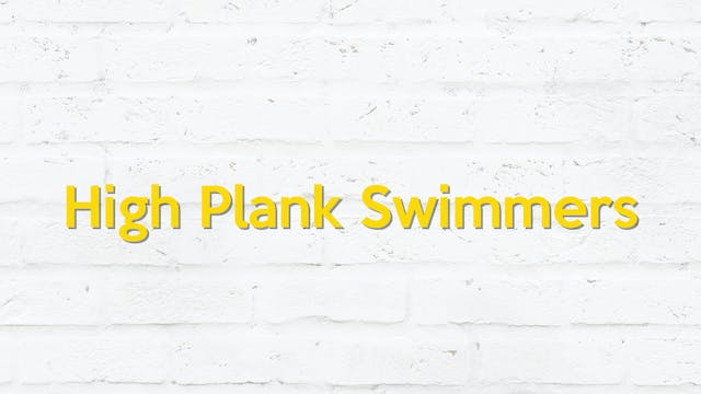 HIGH PLANK SWIMMERS