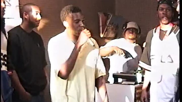Kanye West Freestyles At Fat Beats In 1996