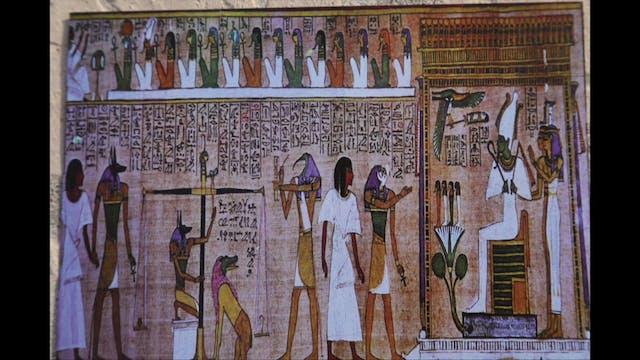Ancient Egyptian god Orisis