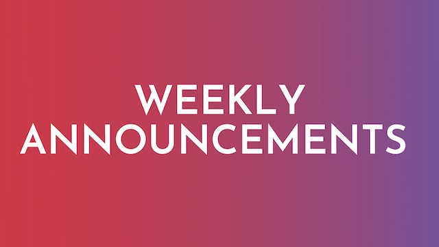 Weekly Alljoy Announcements
