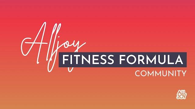 The Alljoy Fitness Formula: Community