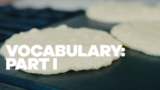 Vocabulary: Part I