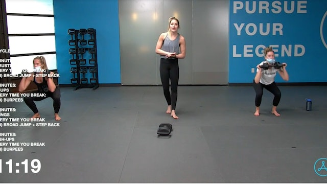 45- Minute Cardio with Coach Sarah (121420)