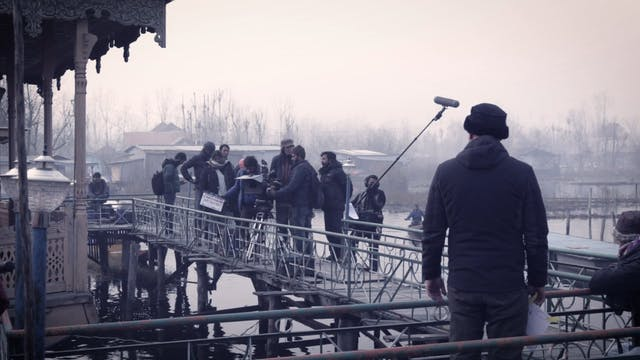 Filming in Kashmir