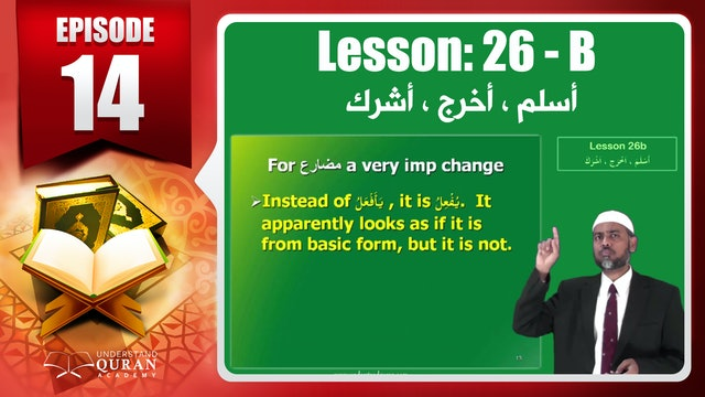 Lesson 26b- English Short course 2-Understand Qur'an