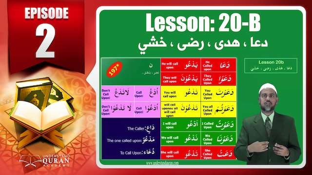 Lesson 20b- English Short course 2-Understand Qur'an