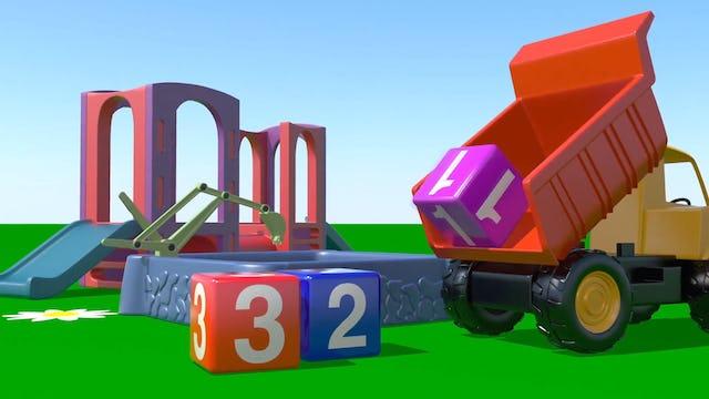 Dump Truck >> Let's count: 1, 2, 3!