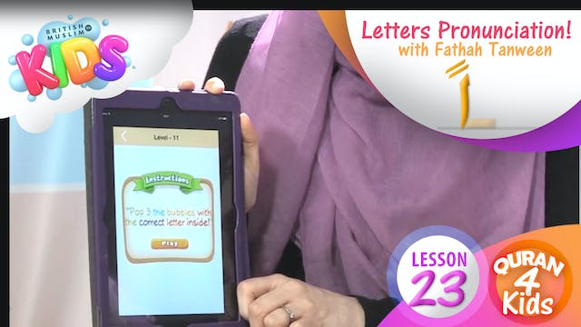 Lesson 23 Letters with Fathah Tanween