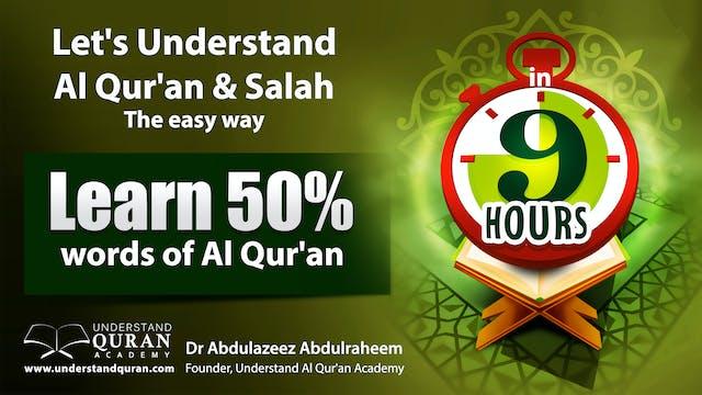 Understand Quran 50%