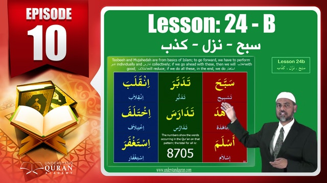 Lesson 24b- English Short course 2-Understand Qur'an
