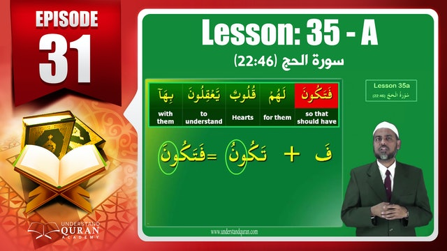 Lesson 35a- English Short course 2-Understand Qur'an