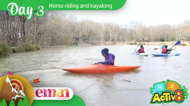 Horse riding and kayaking on Day 3