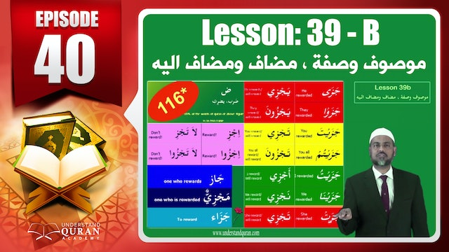 Lesson 39b- English Short course 2-Understand Qur'an