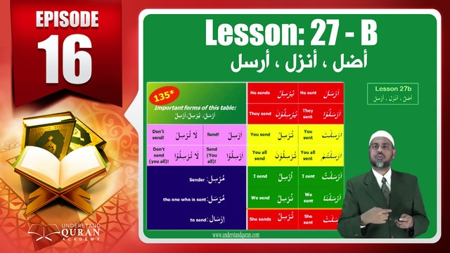 Lesson 27b- English Short course 2-Understand Qur'an