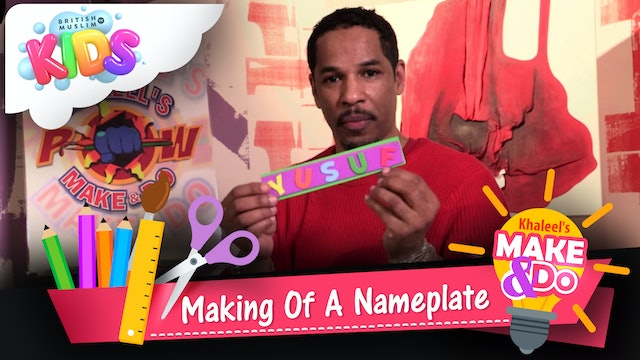 Making Of A Nameplate