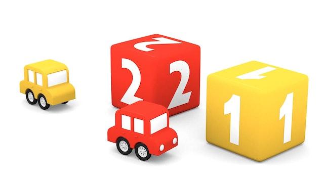 4 Coloured Cubes
