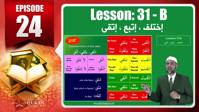 Lesson 31b- English Short course 2-Understand Qur'an