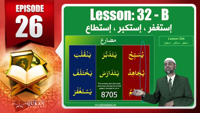 Lesson 32b- English Short course 2-Understand Qur'an