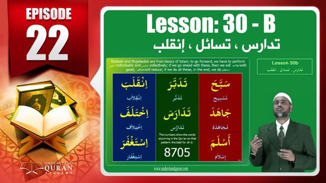 Lesson 30b- English Short course 2-Understand Qur'an