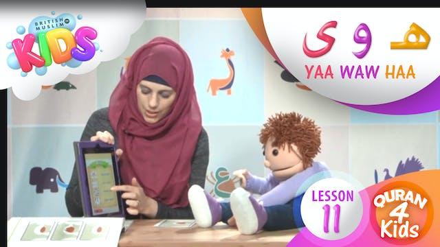 Lesson 11 Haa, Waw and Yaa