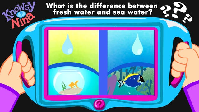 What is the difference between fresh water and sea water?