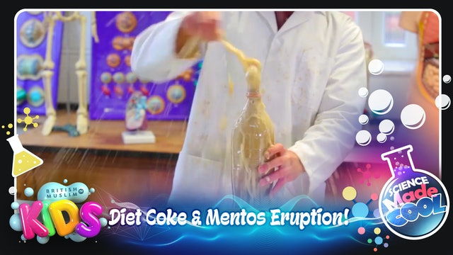 Diet Coke & Mentos Eruption!