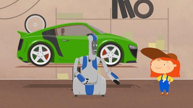 Robot Handy & The Green Car
