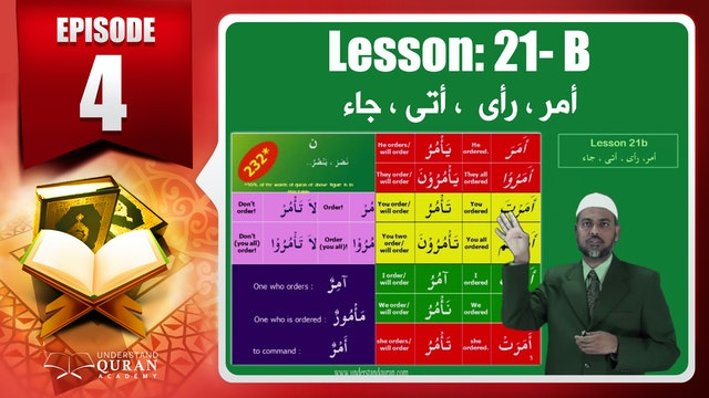 Lesson 21b- English Short course 2-Understand Qur'an