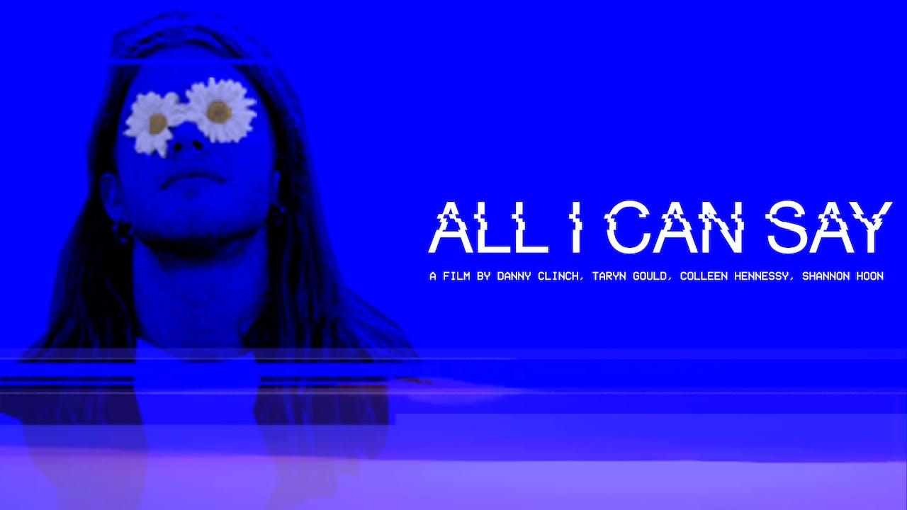 Good Records Presents: ALL I CAN SAY