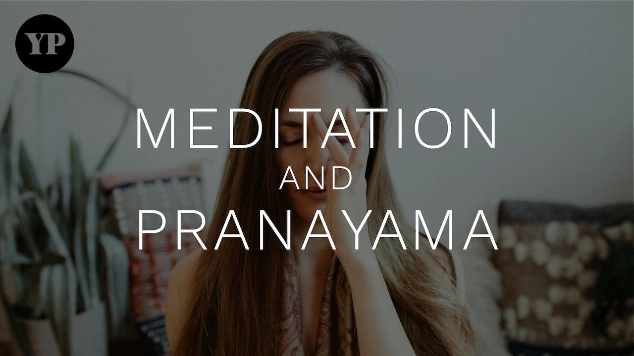 Meditation and Pranayama at Yoga Pearl